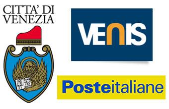 loghi Città di Venezia, Venis e Poste italiane