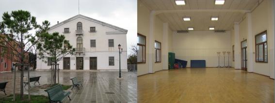 interno ed esterno palestra  scuola zendrini
