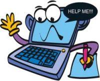 Computer che dice Help me