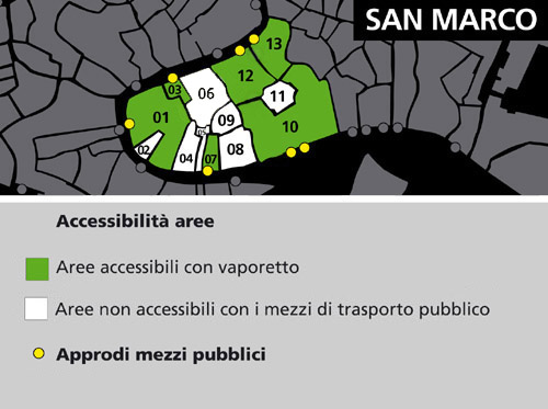 Mappa area San Marco