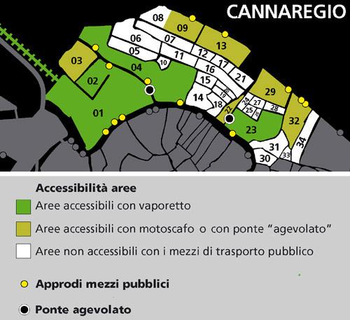Mappa area Cannaregio