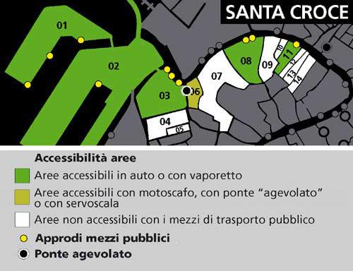 Mappa area Santa Croce