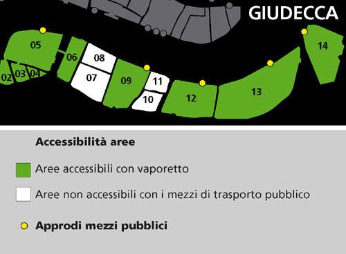 Mappa area Giudecca
