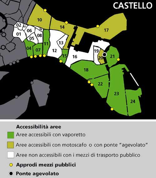 Mappa area Castello