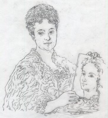 donna veneziana disegnata