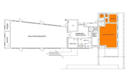 Mappa - Stanze Piano Terra di Via Ciardi 45/B Cipressina