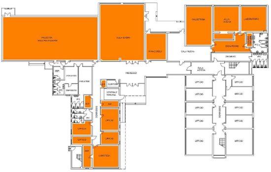 Mappa - Piano Terra Centro Civico D. Manin