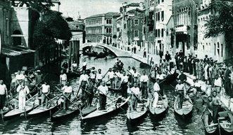 1930 La consegna dei gondolini ai partecipanti alla Regata