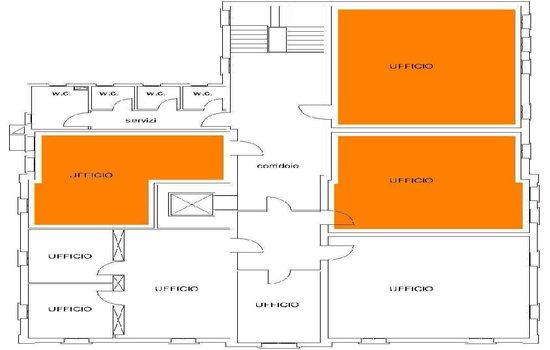 Mappa - Piano Secondo Ex Scuola Media Filzi