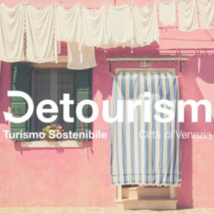 Il logo di Detourism, progetto per il Turismo Sostenibile della Città di Venezia