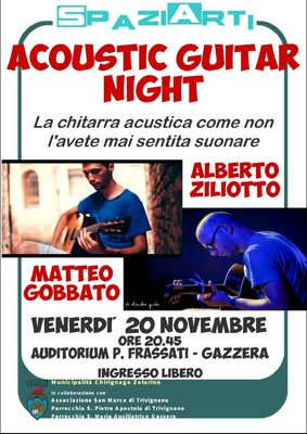 foto Acoustic guitar night