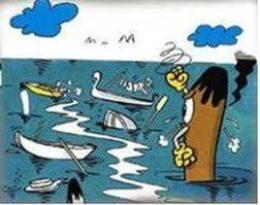 immagine fumettistica dei trasporti acquei non di linea