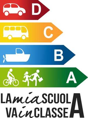 """Logo del Progetto """"La mia scuola va in classe A"""""""