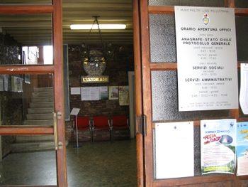 entrata degli uffici a Pellestrina