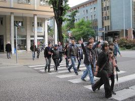 uscita didattica dei ragazzi dell'AIPD per le strade di Mestre