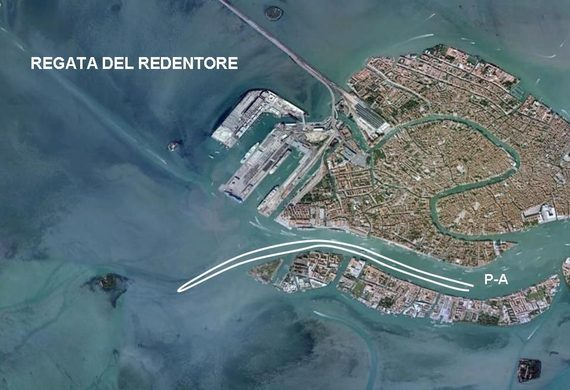 Percorso regata del Redentore