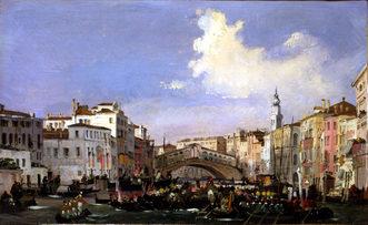 1846 La regata di Venezia, raffigurata in un quadro di Ippolito Caffi, conservato al museo Correr di Venezia