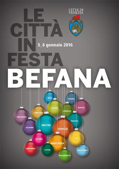 Logo Le citta' in festa Befana 2015