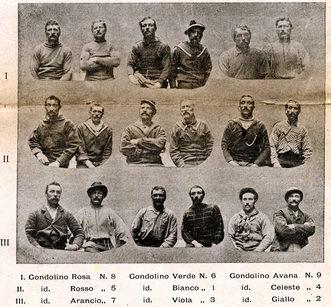 1899 I partecipanti alla Regata (dal Corriere Illustrato   dell'Esposizione)