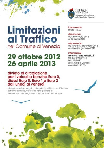 Locandina Limitazioni Traffico 2012-2013