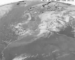 Immagine da satellite delle ore 22.00 UTC del 15 novembre 2002 (archivio ICPSM)