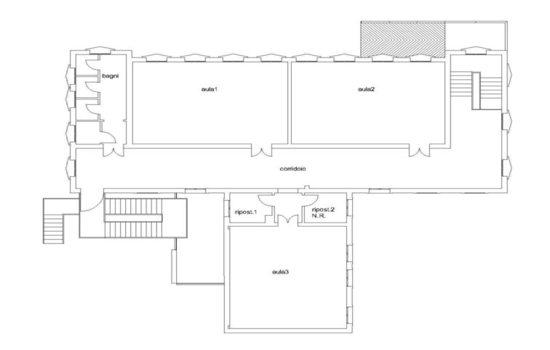Mappa - Piano Primo - Ex Scuola Elementare S.Lucia Tarù