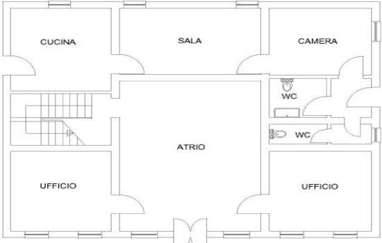 Mappa Villa Pozzi - Piano Terra