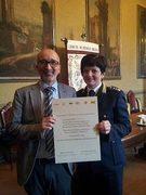 Reggio Emilia 06/02/2014-Consegna attestato partecipazione