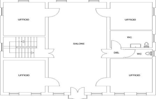 Mappa Villa Pozzi - Piano Primo