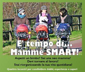 immagine con tre mamme con passeggino