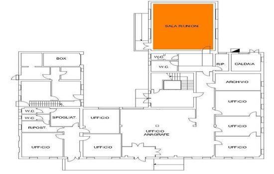 Mappa - Sala Consiglio Centro Civico Zelarino