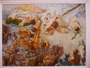 Foto della tela del pittore Giuseppe Urbani de Gheltof che rappresenta Mestre