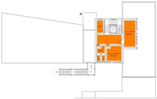 Mappa - Stanze Piano Secondo di Via Ciardi 45/A Cipressina