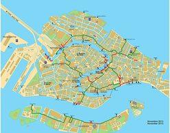 Mappa dei percorsi su passerelle aggiornata al 2015
