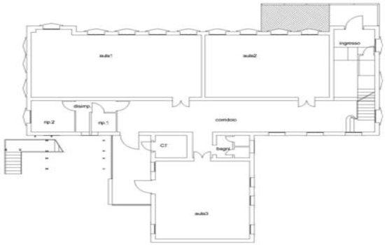Mappa - Piano Terra - Ex Scuola Elementare S.Lucia Tarù