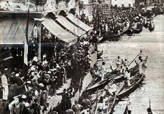 """1924 L'arrivo alla """"machina"""" degli equipaggi primi classificati (da """"Il Gazzettino Illustrato"""")"""