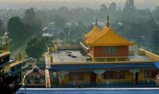 foto di un tempio in nepal