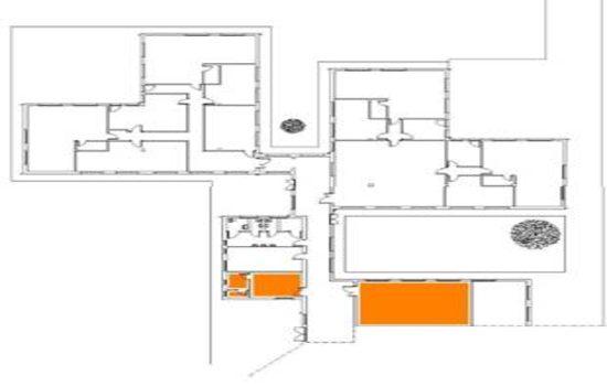 Mappa - Piano terra Palestrina e spogliatoi Ex Scuola Gori