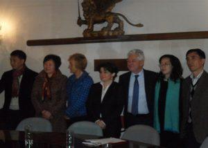 Tiziana Agostini Assessore del Comune di Venezia e Chen Xiaoping Vice Sindaco di Hangzhou