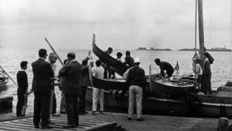1965 La Regata è finita: anche per i gondolini è tempo di riposo e restyling in attesa della nuova stagione