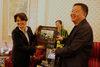 06.10.2011 - Tiziana Agostini inaugura la Biennale di Chengdu in Cina