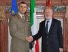 24.10.2011 - Giorgio Orsori riceve il nuovo Comandante Lagunari col. Giovanbattista D'alessio