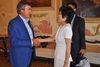15.07.2015 - Il Sindaco Luigi Brugnaro riceve la Sig.ra Wang Dong Console Generale Cinese