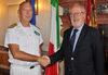 26.09.2013 - Giorgio Orsoni riceve l'Ammiraglio di Divisione Salvatore Ruzittu