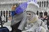 04.03.2014 - Carnevale con l'acqua alta in Piazza San Marco