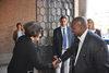 12.05.2014 - Tiziana Agostini riceve il Console Generale del Sud Africa S.E. Saul Kgomotso Molobi