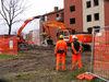 03.12.2014 - Abbattimento Vaschette -  Palazzine 93-95 di via Pasini