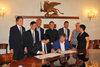 23.07.2015 - Il Sindaco Luigi Brugnaro alla firma della convenzione con la Città Cinese di Dunhuang