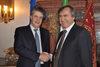 04.12.2015 - Il Sindaco Luigi Brugnaro riceve il Commissario Europeo Lord Jonathan Hopkin Hill