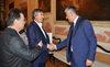 31.07.2015 - Il Sindaco Luigi Brugnaro riceve il Sindaco Greco di Pylos Dimitri Kafandaris